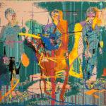 Brieuc Dufour Aborder 2019 peinture et dessin sur impression numérique 105 x 160 cm