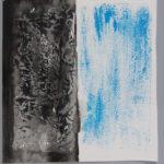 Esther de Patoul, Empreintes tissu sur papier, 2015, 42 x 45 cm