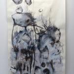 Laurence Demaret, 03, 2020, dessin, brou de noix, encre de chine, pastel, fusain, acrylique sur papier 100 x179 cm